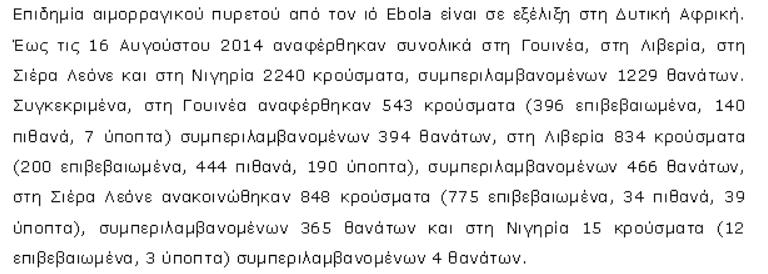 Αιμορραγικός πυρετός Ebola στη Δυτική Αφρική